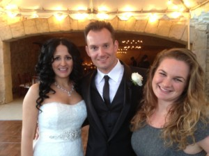 DJ Katie with Bride & Groom