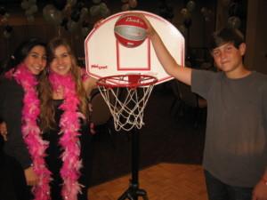 Eli plays basketball at his Bar Mitzvah