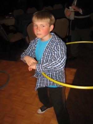 Hula Hoop Champion at Eli's Bar-Mitzvah