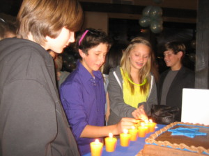 Mitzvah Candle lighting Ceremony