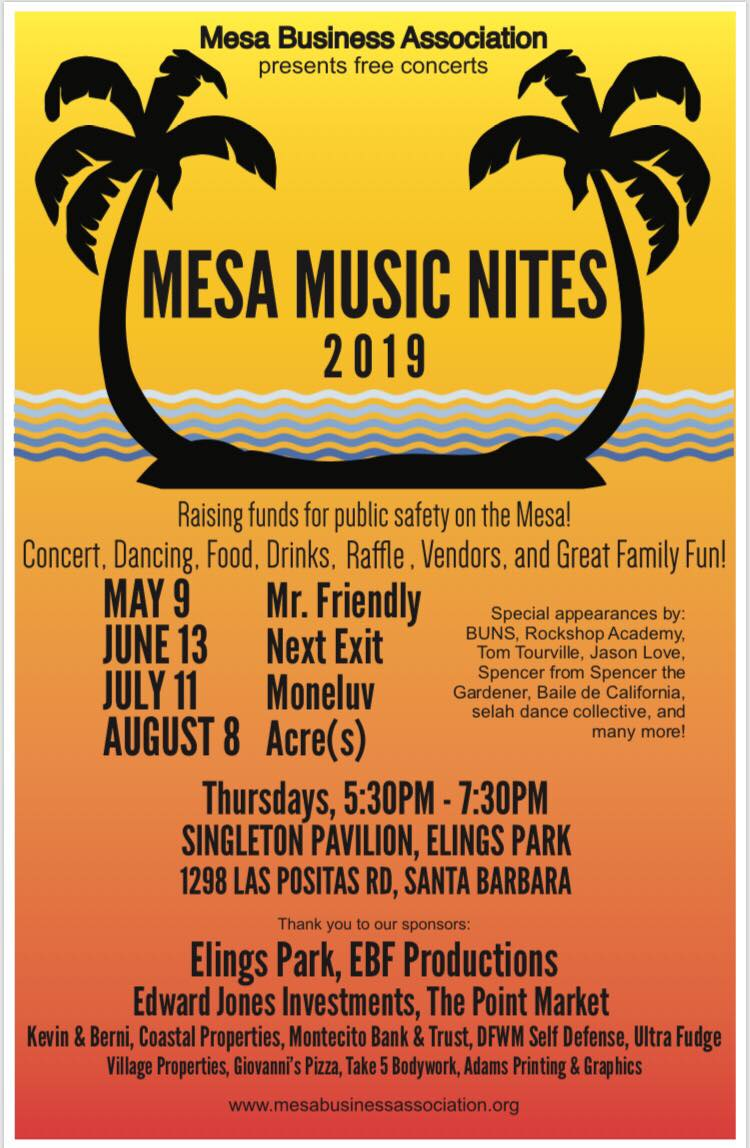 Mesa Music Nites Flyer